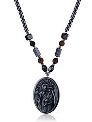 abordables -Mujer Forma Geométrica Irregular Forma Collares con colgantes Collares de cadena Obsidiana Piedra Collares con colgantes Collares de