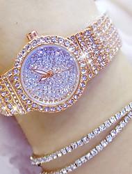 baratos -Mulheres Japanês Relógio Casual Aço Inoxidável Banda Amuleto / Fashion Prata / Dourada / Ouro Rose