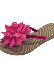 Women's Sandals Comfort PU Spring Summer Casual Dress Comfort Flat Heel Black Beige Burgundy Flat
