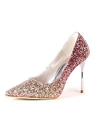 cheap -Women's Shoes Sparkling Glitter Spring / Fall Basic Pump Wedding Shoes Closed Toe / Pointed Toe Sparkling Glitter for Wedding / Party &