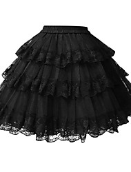 cheap -Classic Lolita Dress Lolita Women's Petticoat Cosplay White Black Short Length