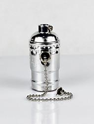 Недорогие -e26 серебристый алюминиевый корпус антикварный винт edison подвеска лампа молния переключатель лампа держатель