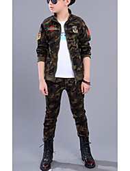 Boys' Camouflage Sets,Cotton Fall Winter Long Sleeve Clothing Set