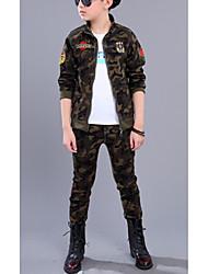 cheap -Kids Boys' Camouflage Long Sleeve Cotton Clothing Set