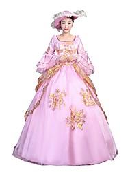 economico -Vittoriano Rococò Donna Per adulto Vestito da Serata Elegante Stile Carnevale di Venezia Rosa Cosplay Manica a 3/4 Lungo