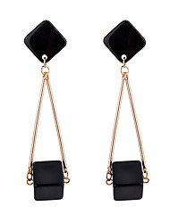 cheap -Women's Drop Earrings Multi-stone Personalized Fashion Resin Alloy Square Jewelry Daily Going out Costume Jewelry