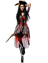 preiswerte -Seeräuber Cosplay Kostüme Maskerade Frau Halloween Karneval Oktoberfest Fest / Feiertage Halloween Kostüme Schwarz Streifen Vintage