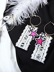 Недорогие -Жен. Серьги-слезки Мода Кружево Сплав Звезда Бижутерия Повседневные Бижутерия