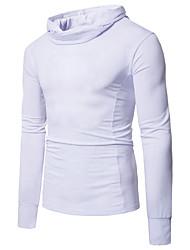 Tee-shirt Homme,Couleur Pleine Sports Vacances Sexy Vintage simple Toutes les Saisons Manches Longues Col Roulé Coton Modal Polyester