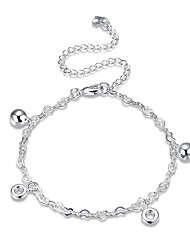 cheap -Women's Anklet/Bracelet Silver Plated Alloy Fashion Classic Circle Geometric Jewelry For Party Gift Daily Casual Evening Party