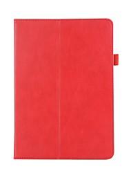 para capa de capa carteira carteira com suporte flip auto dormir / despertar corpo completo couro sólido couro duro para huawei t3 10