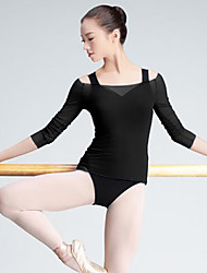 cheap -Ballet Tops Women's Performance Tulle 3/4 Length Sleeve Tops
