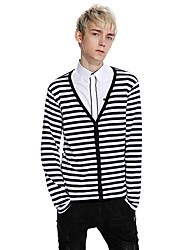Men's Casual/Daily Regular Pullover,Solid Cowl Neck Long Sleeves Cotton Fall Winter Medium Micro-elastic