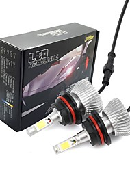 abordables -Joyshine c6-9007 led ampoules de phare 60 w 6000 lm dc9-36 v cob conversion ampoule faisceau kit blanc froid