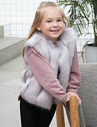 cheap -Faux Fur Wedding Party / Evening Kids' Wraps Vests