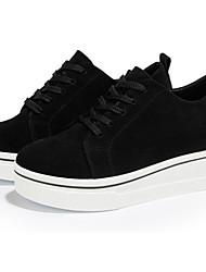 cheap -Women's Shoes Suede Fall Winter Comfort Oxfords Creepers Lace-up For Casual Party & Evening Red Black