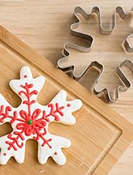 Cortador de bolachas de flocos de neve de Natal Bolo de biscoito de aço inoxidável Molde de fundas