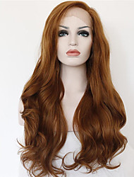 cheap -Synthetic Lace Front Wig Curly / Wavy Synthetic Hair Brown Wig Women's Medium Length / Long Cosplay Wig / Natural Wigs / Lolita Wig Lace