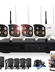 economico -i corredi nvr wireless del yanse® 4ch 720p impermeabilizzano il sistema di sicurezza della macchina fotografica del wifi di visione