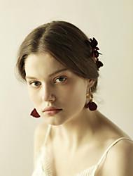 baratos -tecido flores grampo de cabelo cabelo pino cabeça clássico estilo feminino