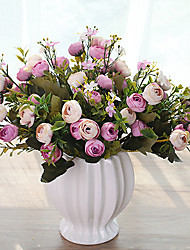 cheap -10 Heads Multicolor Daisy Little Tea Rose Artificial Flowers Tabletop Flower