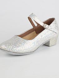 Недорогие -Жен. Обувь для модерна Блестки На низком каблуке Персонализируемая Танцевальная обувь Золотой / Серебряный / Красный / В помещении