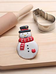 Недорогие -снеговик печенье резак из нержавеющей стали бисквит торт формы металл кухня помадные инструменты для выпечки