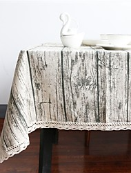 Rectangular Square wood grain Table cloths Material Table/Desk Home Hotel Dining Table Table Decoration Home Decoration 1