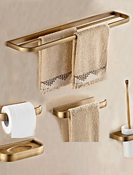 cheap -Bathroom Accessory Set Towel Bar Towel Ring Toilet Paper Holder Soap Dishes Toilet Brush Holder Wall Mounted