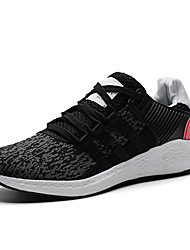 cheap -Women's Shoes Knit Spring Fall Comfort Athletic Shoes Walking Shoes Low Heel Round Toe Lace-up For Casual Outdoor Black/Red Black/White