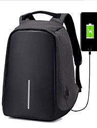 Unisex Bags All Seasons Nylon Backpack for Casual Outdoor Camping & Hiking Black Gray Purple