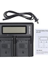 Andoer en-el15 double canal chargeur de batterie appareil photo numérique w / affichage lcd pour nikon d500 d610 d7000 d7100 d750 d800 d810 d7200