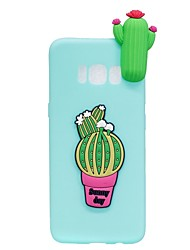 """economico -Custodia Per Samsung Galaxy S8 Plus S8 Fantasia/disegno Fai da te Custodia posteriore Fantasia """"Cartone 3D"""" Fiore decorativo Morbido TPU"""