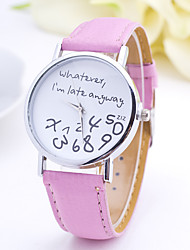 baratos -Mulheres Relógio de Moda / Relógio de Pulso Relógio Casual Couro Banda Elegante Preta / Branco / Marrom