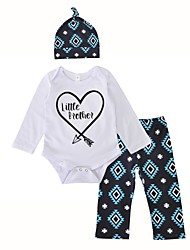 Baby Boys' Indoor Outdoor Birthday Christmas Casual/Daily Geometric Clothing Set,Stylish Classic Style Patterned Spring/Fall Winter