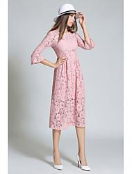 cheap -Women's A Line Dress - Solid, Lace