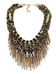 Недорогие -Жен. Синтетический алмаз Заявление ожерелья - Классика Черный Ожерелье Назначение Для вечеринок, Подарок