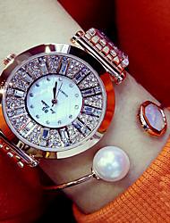 baratos -Mulheres Relógio de Pulso Japanês Relógio Casual Aço Inoxidável Banda Amuleto / Fashion Prata / Dourada / Ouro Rose