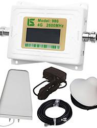 baratos -mini display lcd inteligente 4g980 2600mhz repetidor de reforço de sinal de telefone celular com antena periódica de registro externo /
