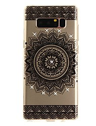 cheap -Case For Samsung Galaxy Note 8 Rhinestone Ultra-thin Transparent Pattern Back Cover Lace Printing Soft TPU for Note 8 Note 5 Edge Note 5