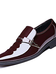 cheap -Men's Shoes Microfibre Spring Fall Formal Shoes Loafers & Slip-Ons Rivet For Office & Career Party & Evening Brown Black