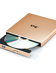 stw stw - 8033 usb 2.0 pop-up drive de dvd óptico externo