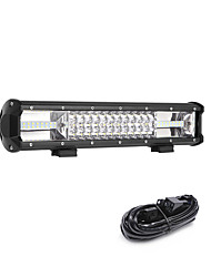 cheap -216W 21600LM 6000K 3-Rows LED Work Light Cool White Combo Offroad Driving Light for Car/Boat/Headlight IP68 9-32V  3m 1-To-1 Wiring Harness Kit