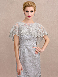 cheap -Lace Tulle Wedding Party / Evening Women's Wrap With Applique Beading Lace Capelets