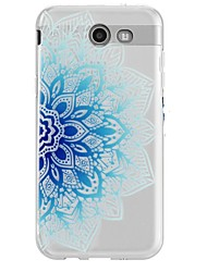 Case For Samsung Galaxy J7 (2017) J3 (2017) Rhinestone Ultra-thin Transparent Pattern Back Cover Lace Printing Soft TPU for J7 (2016) J7