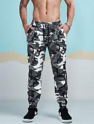 economico -Da uomo A vita medio-alta Anelastico Largo Taglia piccola Chino Pantaloni della tuta Pantaloni,Camouflage Cotone Inverno Primavera