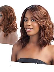 cheap -Synthetic Hair Wigs Wavy Deep Wave Natural Wigs Medium Brown
