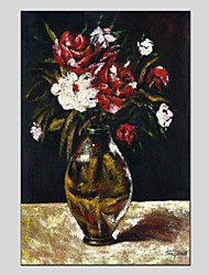 cheap -Oil Painting Hand Painted - Still Life Flower Canvas