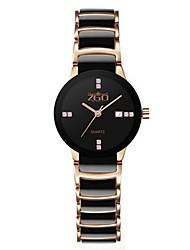 cheap -Women's Fashion Watch Quartz Ceramic Band Black Silver Gold