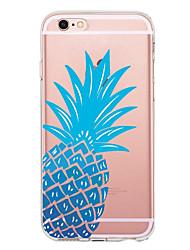 Недорогие -Кейс для Назначение Apple iPhone X iPhone 8 iPhone 8 Plus Ультратонкий Прозрачный С узором Задняя крышка Фрукты Мягкий TPU для iPhone X
